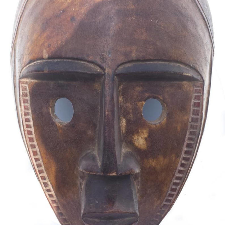 African Mask, African Tribal Mask of Central Africa (DRC)