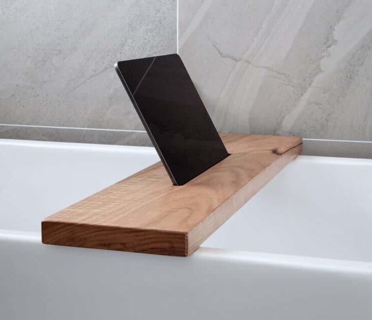 Bath Shelf Wooden Bath Caddy Rustic Timber Bath Board