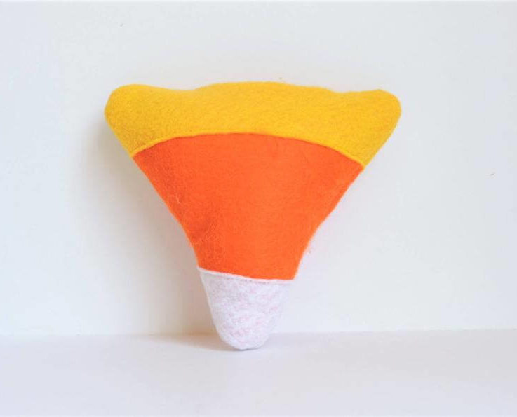 Candy Corn Halloween Dog Toy With or Without Squeaker
