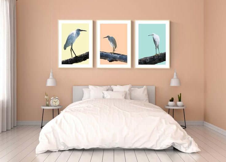 Coastal Wall Art Set Bird Prints Wall Art Set of 3 Wall Art Living Room Wall Art Bird Wall Decor Printable Wall Art Minimalist Poster