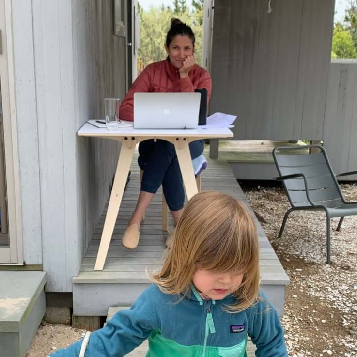 Laura Our Tiny Desk Only for working at home or outside in the tool shed, or your kid's tree house.