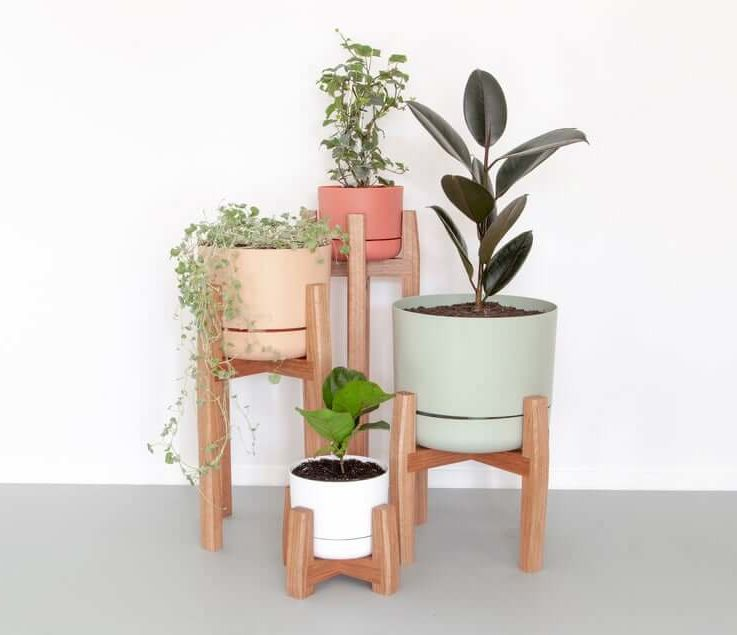 Mid-Century Plant Stands Timber Plant Stands Modern Plant Stand