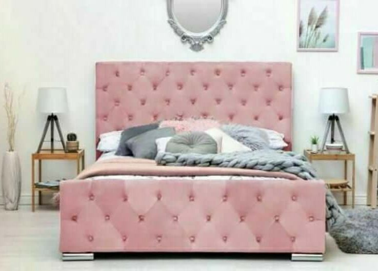 Monaco Plush Velvet Bed Frame