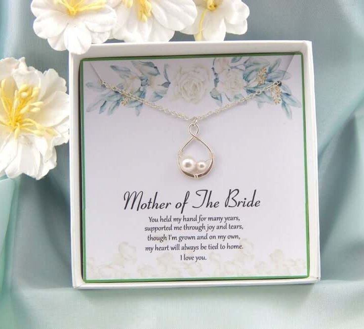 Mother of the Bride Gift,Mother Of The Bride Necklace,Mother of the Bride Gift Box Necklace,Gift From Daughter, Wedding gift
