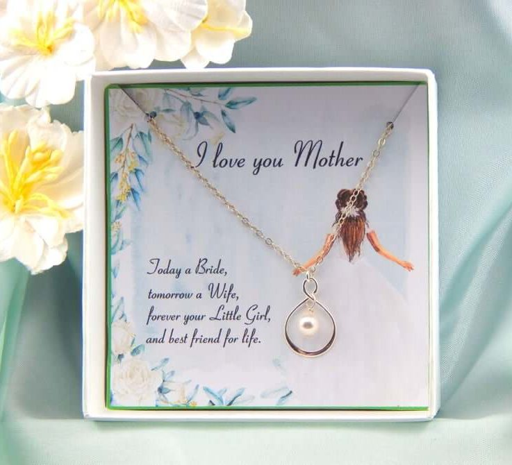 Mother of the Bride Necklace Gift, Mother Of The Bride Necklace, Mother of the Bride Gift Box Necklace,Mother of Bride Gift, Wedding gift