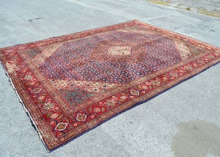 Navy rug persian rug oversize rug turkish rug 9x12.7 ft FREE SHIPPING runner rug boho rug natural wool rug geometric rug RC2600