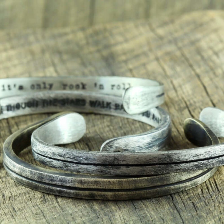 PERSONALIZED Guys Minimal Brushed Oxidized Brass Band Bracelet, CUSTOMIZED Simple Mens Brass Cuff Bracelet, Smart Office Work Jewelry Man