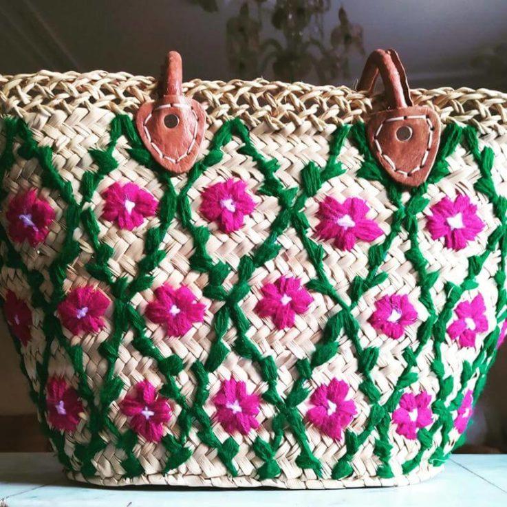 Palm leaf basket