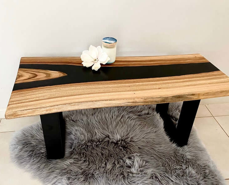 Resin River Table (your choice of colour)