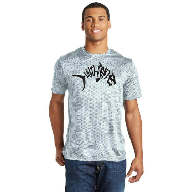 Salty Bonz CamoHex Moisture Wicking Tee-Available in 4 Colors