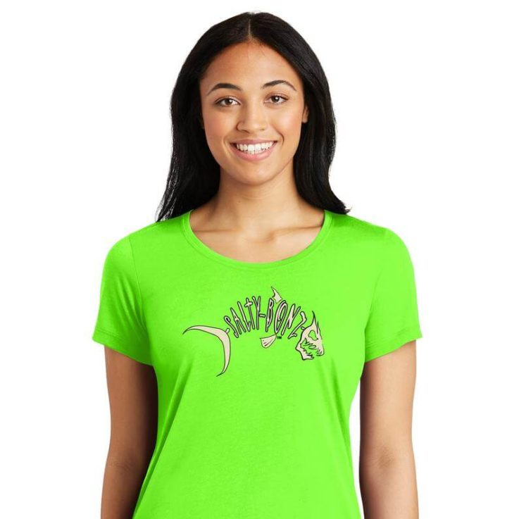 Salty Bonz Ladies moisture-wicking Cotton Touch Logo Tee - Available in 9 Colors