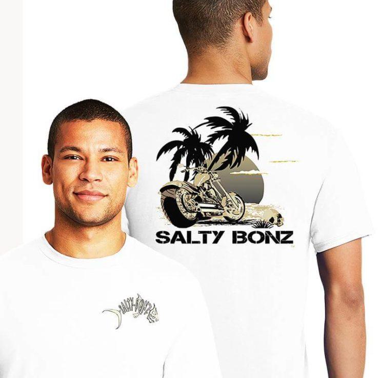 Salty Bonz Sunset Chopper Tee 100% preshrunk ringspun cotton
