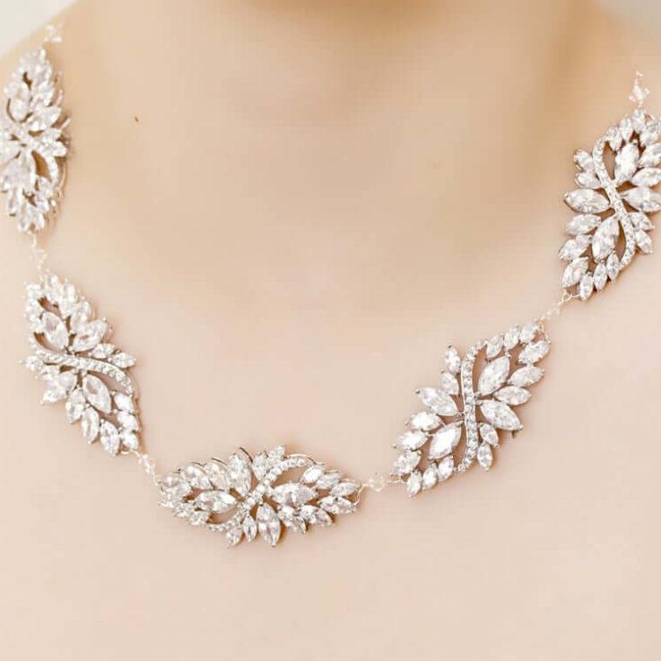 Statement Crystal Neckace, wedding necklace, bridal necklace