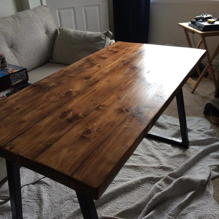 Table, Dining table, Kitchen table, Handmade table, Desk, Computer desk, Office desk, Solid wood, Recycled, Custom made, Handmade in UK,