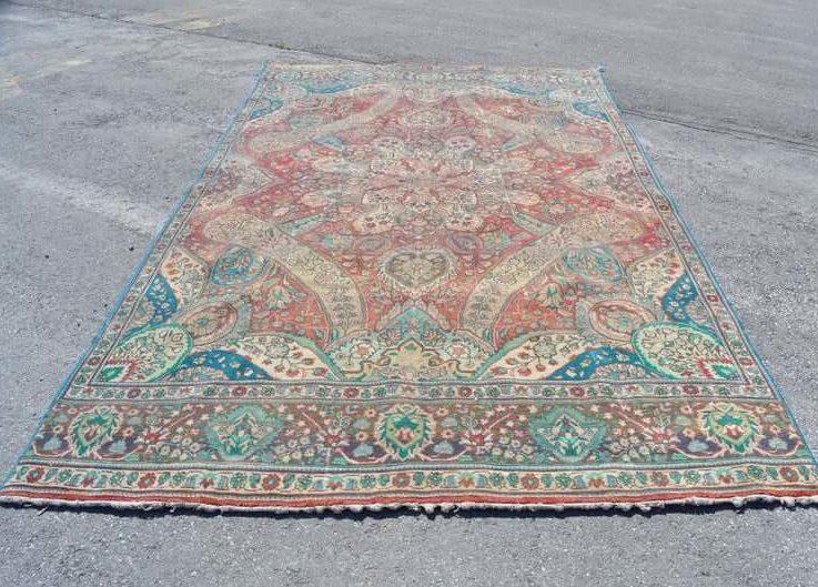 The world's flowers carpet turkish oversize rug 7.5x12.7 ft FREE SHIPPING large size rug boho rug navy rug decorative rug RC2633