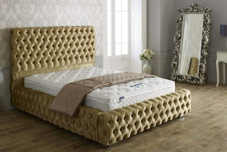 Tufted Crushed Velvet Chesterfield Windermere Bed Frame
