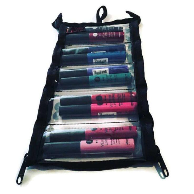 Weekender Lipstick Organizer - Makeup Bag - Lipstick Bag- Cosmetic Bag- Makeup Organizer -Lipstick- Zip Pouch- Storage- Organization