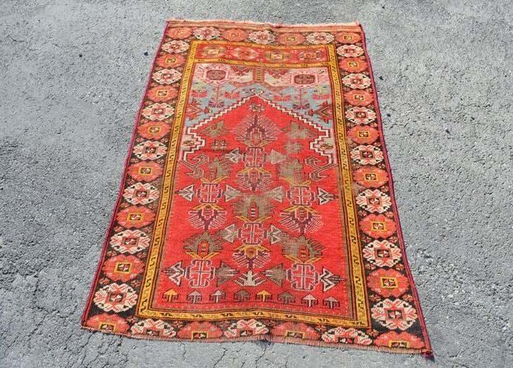 area rug handknotted rug bohemian rug FREE SHIPPING 3.2x5.0 ft turkish rug anatolian rug floor rug natural wool rug RC2796
