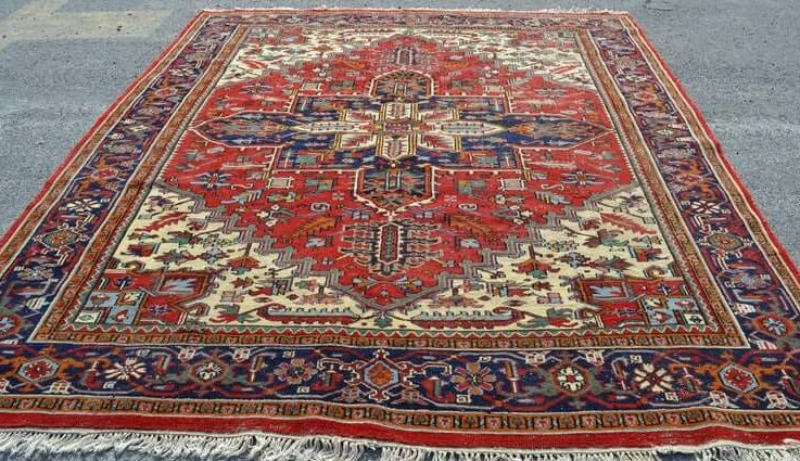 vintage turkish rug navy blue rug unique rug area rug oushak rug handmade rug boho rug oversize turkish rug 8.2x10.8 ft FREESHIPPING RC2151