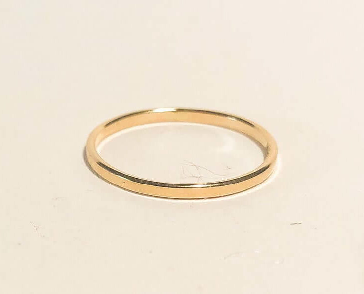 1.5mm Gold Filled Ring, 14k Gold Ring, Gold smooth Ring, Gold Rings For Man and Women, Gold Stack Ring, Minimalist Ring,