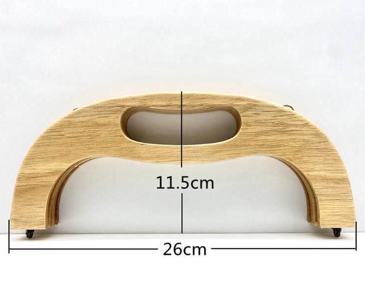 10 14 inch 26cm Natural wood bag purse frame supply