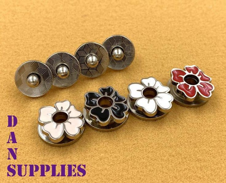 17 mm special flower magnetic snap leather closures magnetic snaps clasps