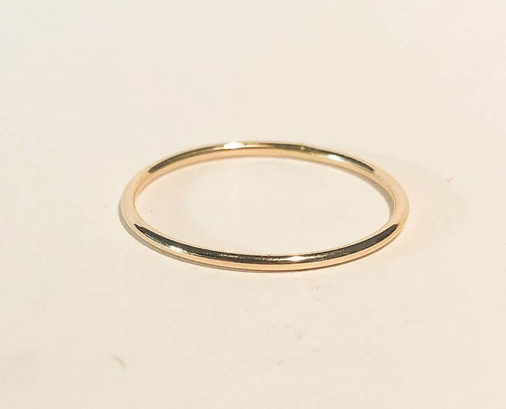 1mm yellow gold filled round wire ring, gold filled ring, Yellow gold filled ring, Handmade gold Jewelry Minimalist gold filled ring