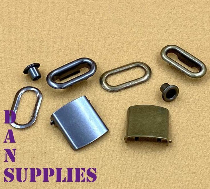 20 sets of 34 inch 19mm Anti brass Gunmetal Hat cap strap clip buckle with grommets hardware making
