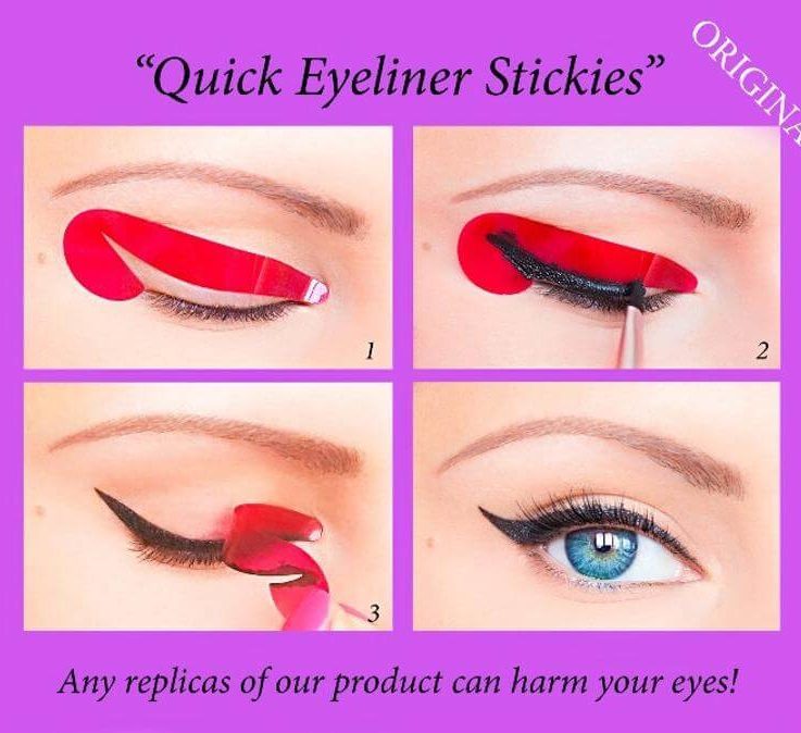 80 pcs Quick Eyeliner Stickies Stencils Cosmetic Eye Makeup Tool Free Shipping NEW