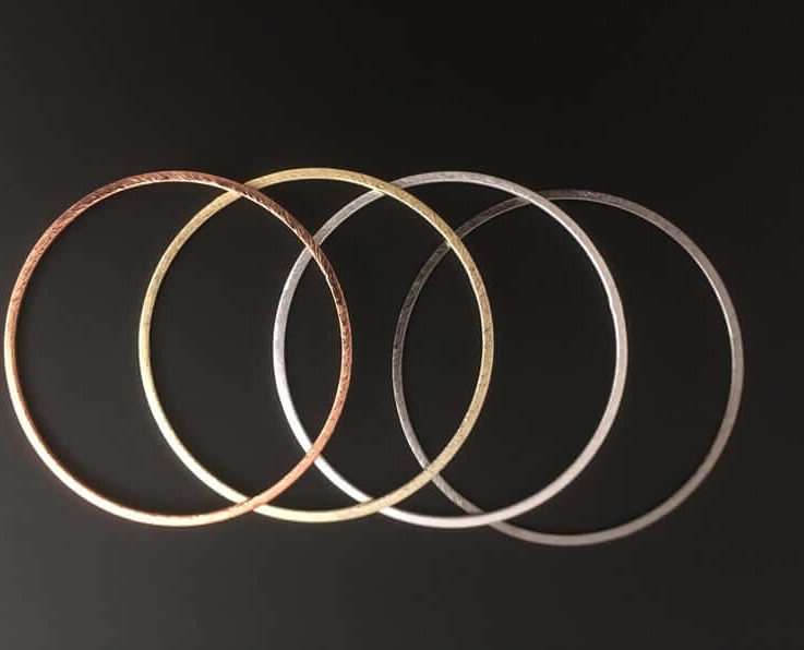 A Pack of Rings, E-coated, Brushed Finish,Hoops, Handmade RingsCirclesConnectors, in 4 COLORS AND 9 sizes (12,24,30,35,38,40,45,50,60mm)