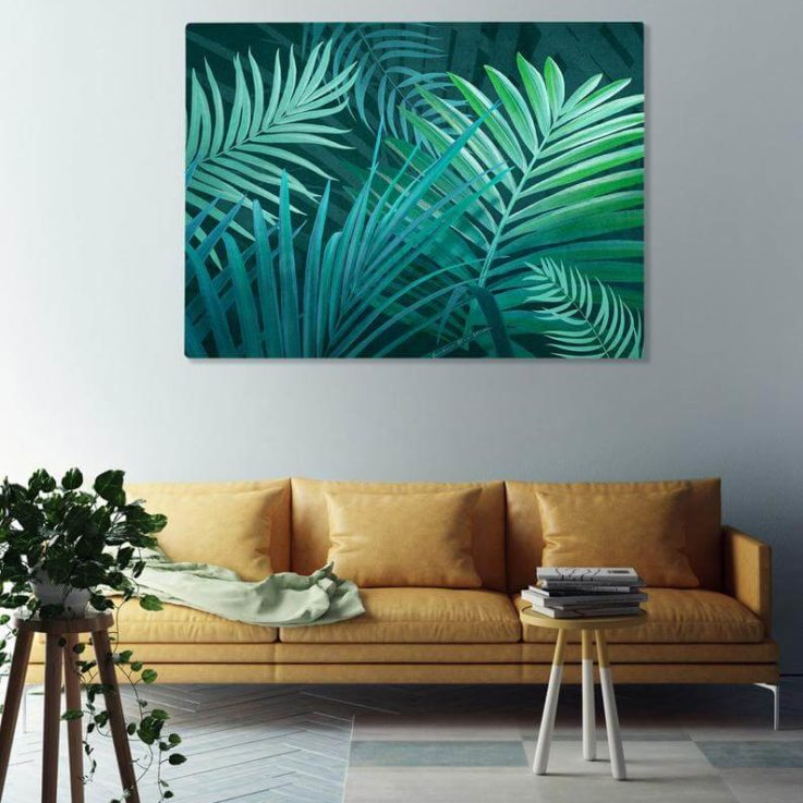 Australian Green leaf Palm Print Canvas Print, Portrait, Canvas Landscape