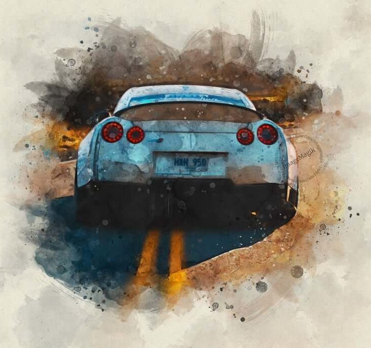Car Custom Watercolor Portrait, Classic Car Painting From Photo, Personalized Gift for Car Enthusiast, Unique Photo for Car Lovers