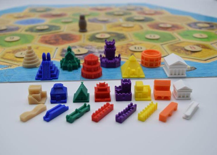 Catan Settlers of Catan Catan Pieces Civilizations Custom Pieces
