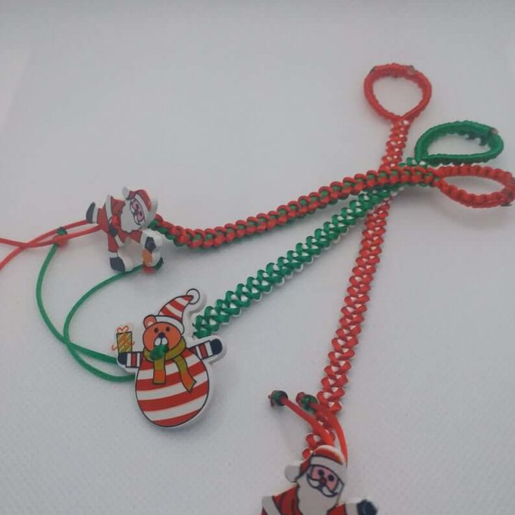 Christmas Gift Idea Santa Clause New Year 2020 Bracelet for Kids Double Sided Bracelet Two In One Bracelet Gift for Kids