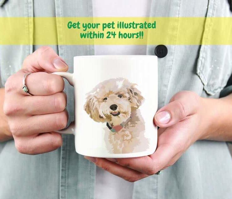 Custom Pet Coffee Mug - Dog Illustration Mug - Dog Lover Coffee Mug - Pet Coffee Mug - Dog Coffee Mug - Custom Dog Mug - Custom Mug