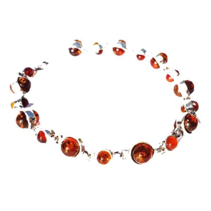 Delicate st. silver 925 fittings and small round multicolour baltic amber bracelet. Amber is smoothly polished. amber jewellery, bracelet