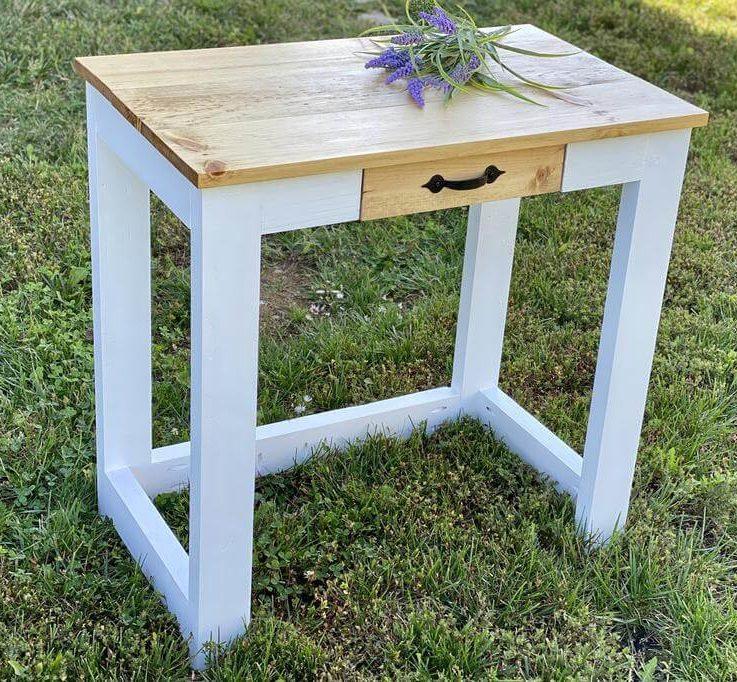 Desk with drawer, desk with storage