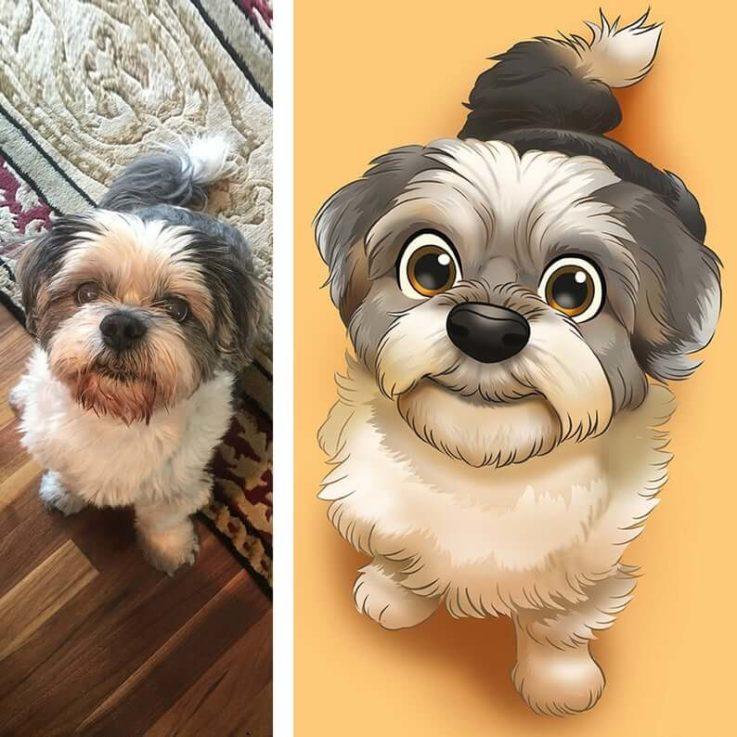 Disney Pet, Disney Pet Portrait, Pet Cartoon from Photo, Dog Disney, Cat Disney, Pet Drawing, Custom Pet Cartoon, Handmade Pet Portrait