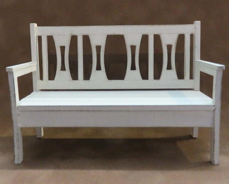 Dollhouse miniature garden bench kit one scale