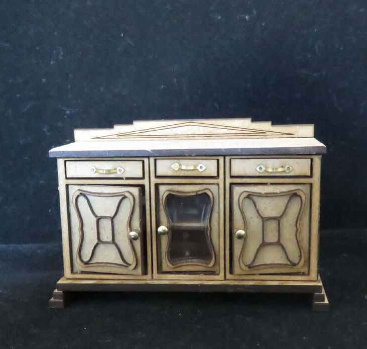 Dollshouse miniature Art Deco dresser half scale