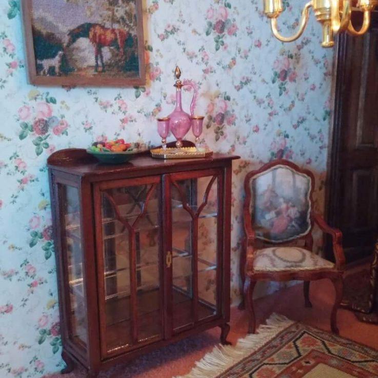Dollshouse miniature Art Nouveau Treasury cabinet one scale
