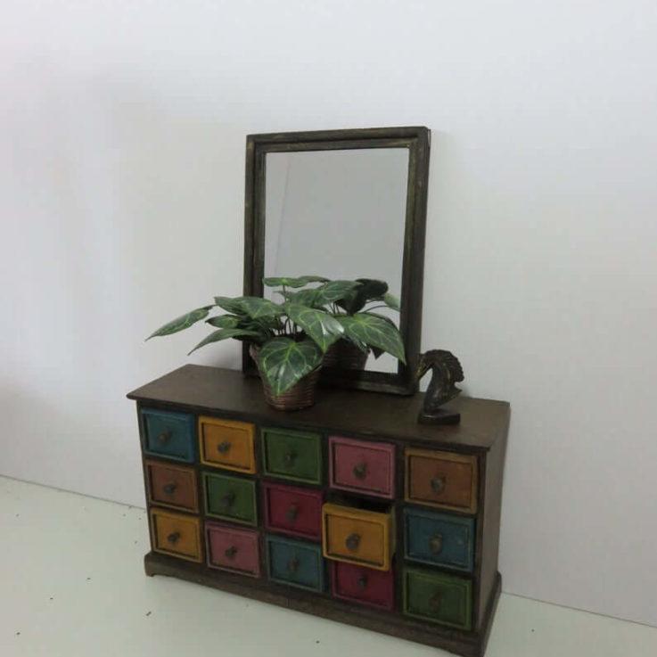 Dollshouse miniature kit 1 scale pharmacists chest of drawers KIT.