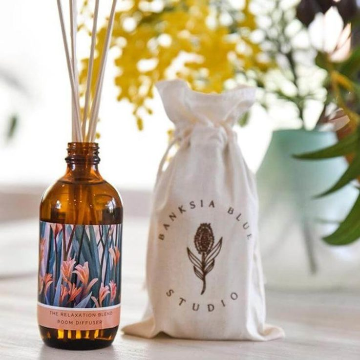Essential Oil Reed Diffuser Lavendr Rose Geranium Relaxation Blend