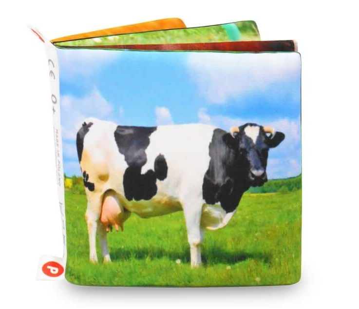 FARM ANIMALS, Cloth Book for Baby, Realistic Illustrations, Nontoxic Fabric Book, Infant Educational Toy, Countryside Babies Gift, Smart Toy