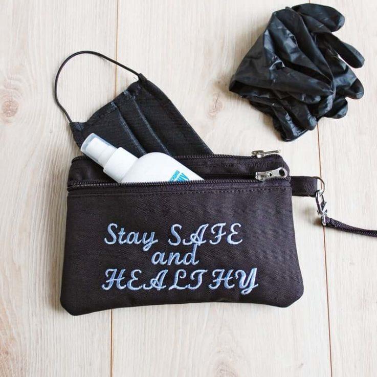 Face Mask Organizer, Face Mask Storage Case, Sanitizer and Gloves Carry Holder, Car Glovebox Bag, Doctor Nurse Gift Idea