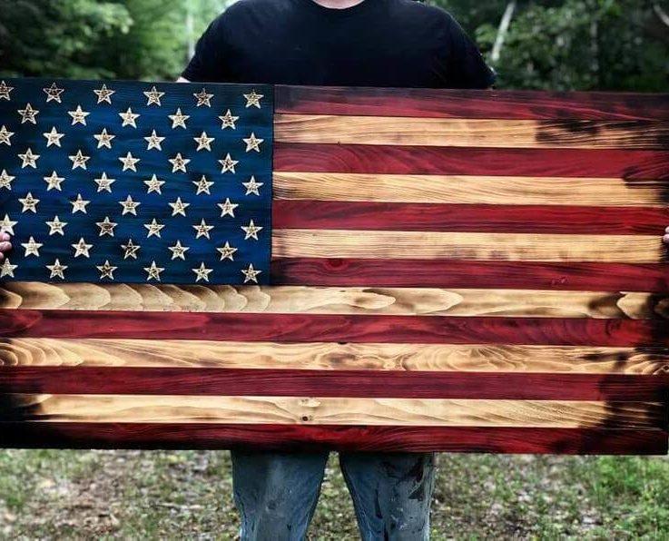 Farmhouse Rustic Wood Flag (1)