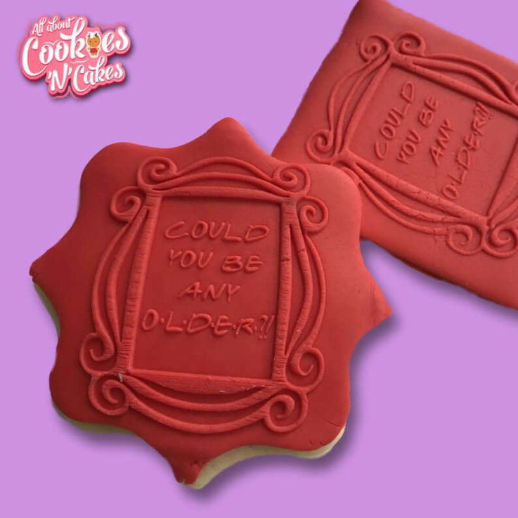 Friends Birthday The Cookie Debosser Raised fondant or soap stamps