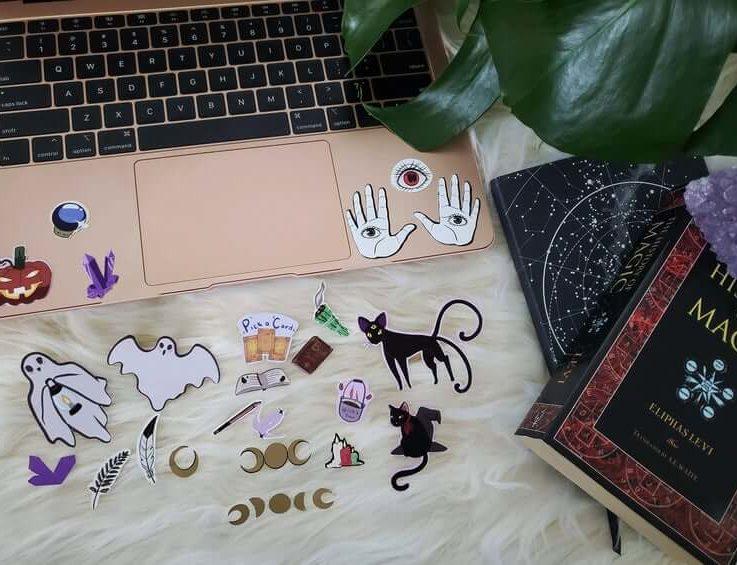 HALLOWEEN STICKER set, scrapbooking, spooky and cute!
