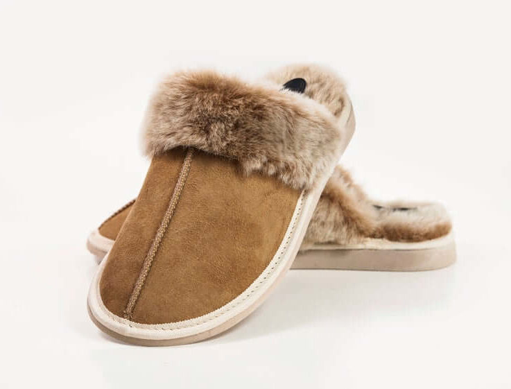 Handcrafted Luxury Women Ladies Genuine Sheepskin Mule Slippers, 100% Just Fur Lined unique gifts christmas present ideas size personali eco
