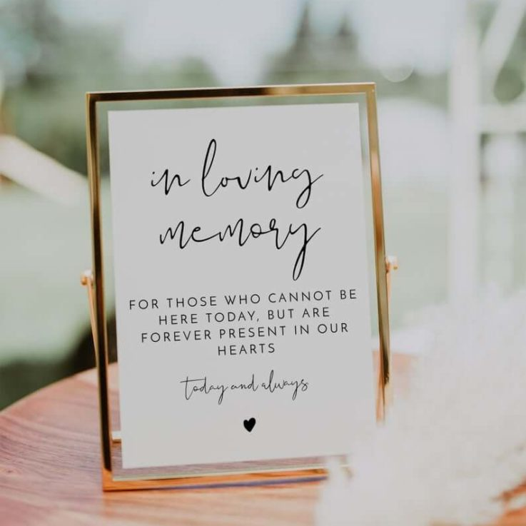 In Loving Memory Sign, Printable In Loving Memory Sign for Wedding, Memorial Sign, In Memory Sign Modern Minimalist EDITABLE